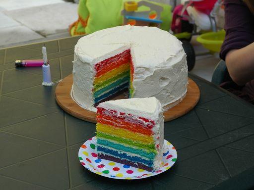 Recette de Gâteau intérieur arc-en-ciel