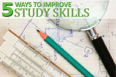 5 Ways to Improve Study Skills - As students gear up for state tests and finals, it's time to start taking a look at how they study. These strategies for improving study skills will not only help students learn how to study, they'll also help make their study time more effective.