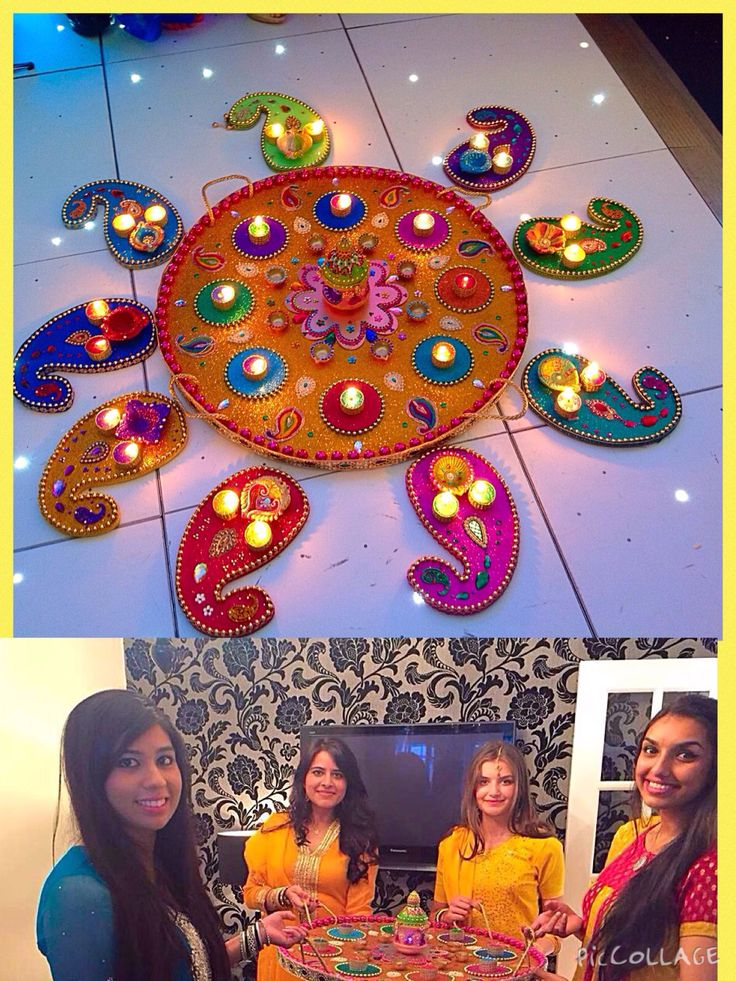 Beautiful large Mehndi plate in multi colours, hand crafted and bespoke. See my Facebook page www.facebook.com/mehnditraysforfun.