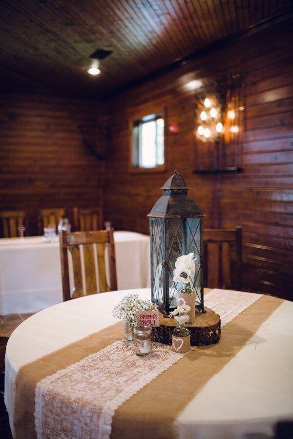 Rustic Tennessee Fall Wedding - centerpiece
