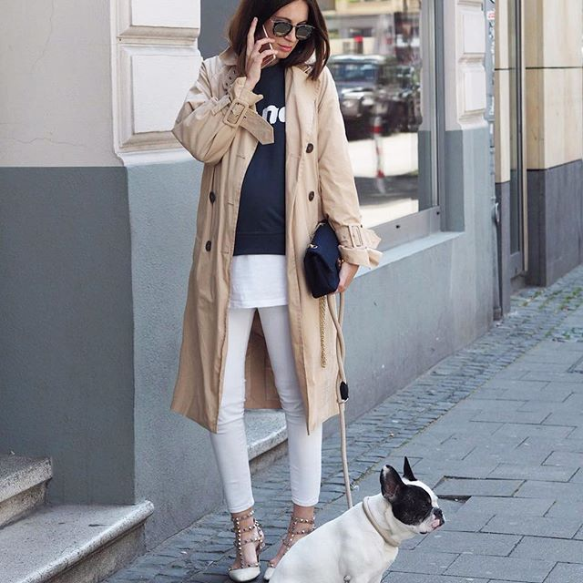 Shop the exact , perfect #TrenchCoat now here http://liketk.it/2oq4d @liketoknow.it #liketkit #pregnancylook