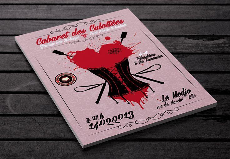 Cabaret des Culottées - Saint-Valentin Décadente #burlesque #cabaret  Cornet de Pixels - Graphisme - Lille www.cornetdepixels.fr