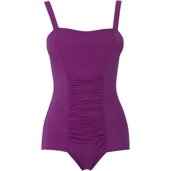 Bright Purple Tummy Control Swimsuit ❤ liked on Polyvore featuring swimwear, one-piece swimsuits, purple one piece swimsuit, purple swimwear, bathing suit swimwear, swimsuit swimwear and tummy control bathing suits