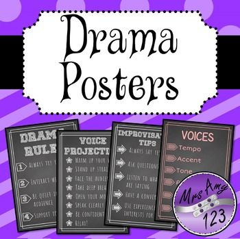 Drama Posters- Rules, Tips & More!
