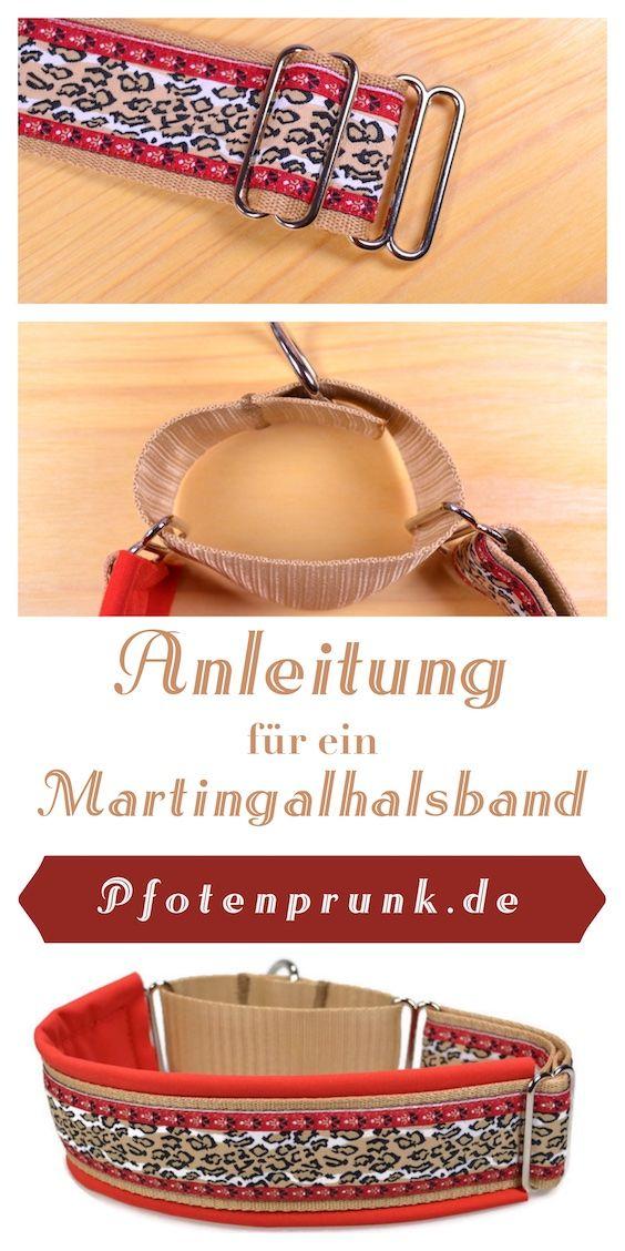 Kostenlose Anleitung für eine Martingalhalsband (Windhundhalsband, Sicherungshalsband)! DIY einfach erklärt von Pfotenprunk - Hundesachen Selbermachen!