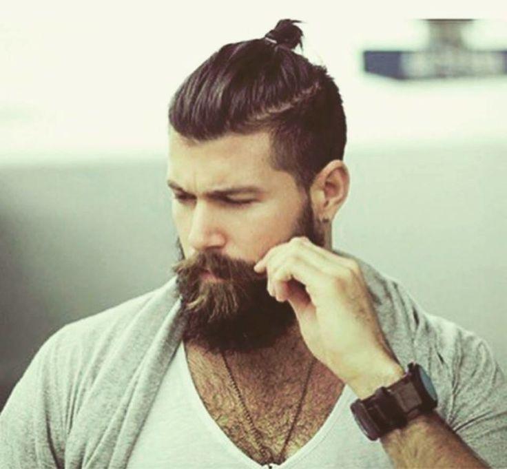 25 Best Ideas About Man Bun And Beard On Pinterest Male
