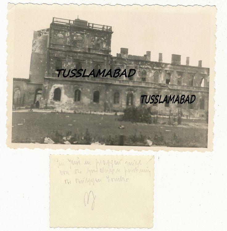 Warschau ? Polen Ruinen Häuser Loch Zerstörung Foto Ort beschriftet 2 WK | eBay