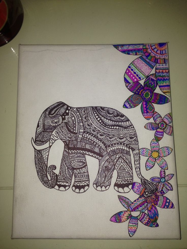 Love drawing with sharpies #sharpie #art #elephant #flowers: Coolio ...