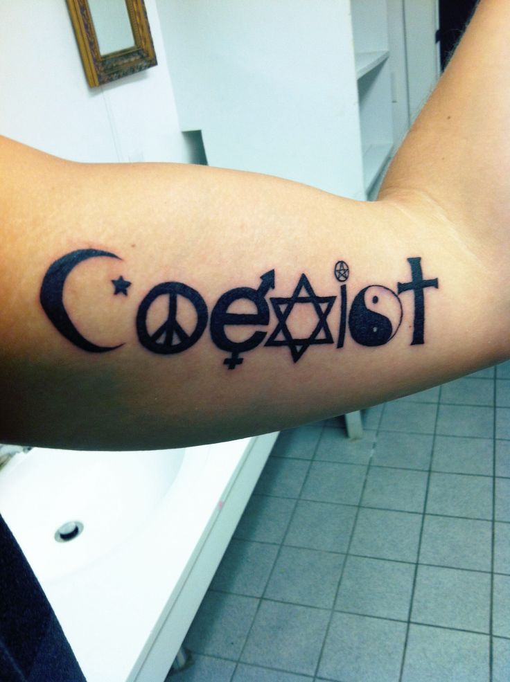 Coexist tattoo. #armtattoo #tattoo #coexist I would want it either on my foot or side though