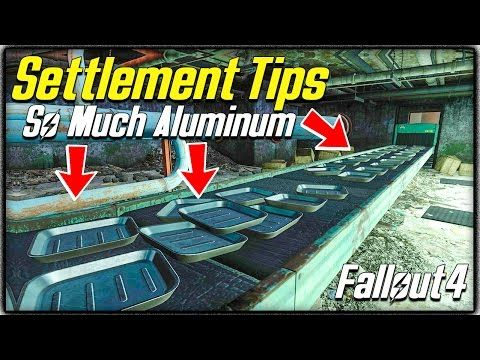 Fallout 4 Settlement Tips #3 - Aluminum, Where to Find Plenty! 3 Locations + Where you can Buy! - YouTube