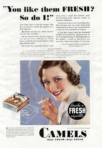 Camel cigarettes ad