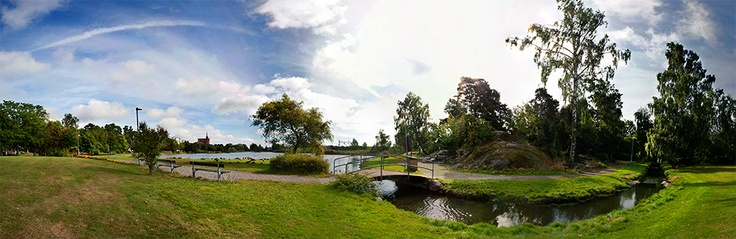 Panorama of Svandammsparken in Nynäshamn, Sweden. Part of the photo project Vida Vyer: Nynäshamn. Photos by Anna Andersson © 2012