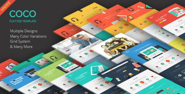 Coco - Flat One Page PSD Template - Creative PSD Templates