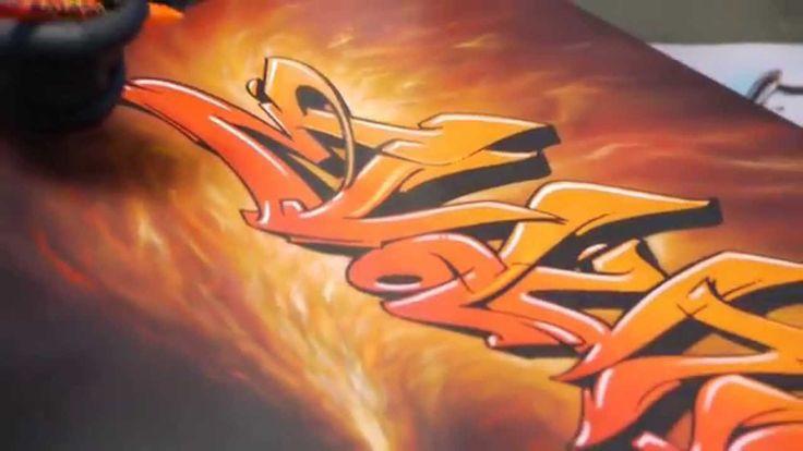 Airbrush Anleitung: Airbrush Mischtechnik mit Graffiti, Marker & Evoluti...
