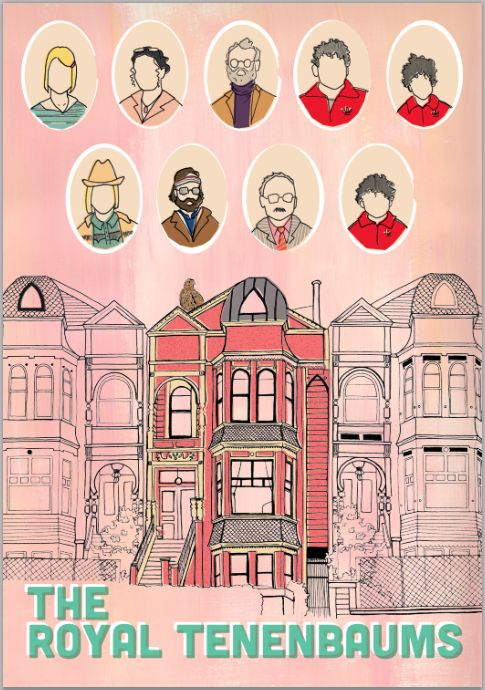 The Royal Tenenbaums poster.  http://www.etsy.com/listing/99921751/the-royal-tenenbaums-poster-11-x-16