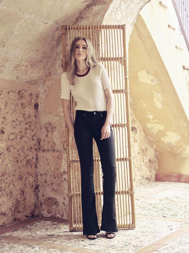 Pieszak Summer Collection 2016  Zenia O-Neck Knit, Marija Flare Jeans