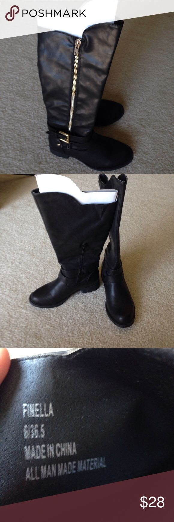 Brand new long boots for ladies! Brand new!!! Long boots for ladies! Color black. Size 6 1/2. Shoes Winter & Rain Boots