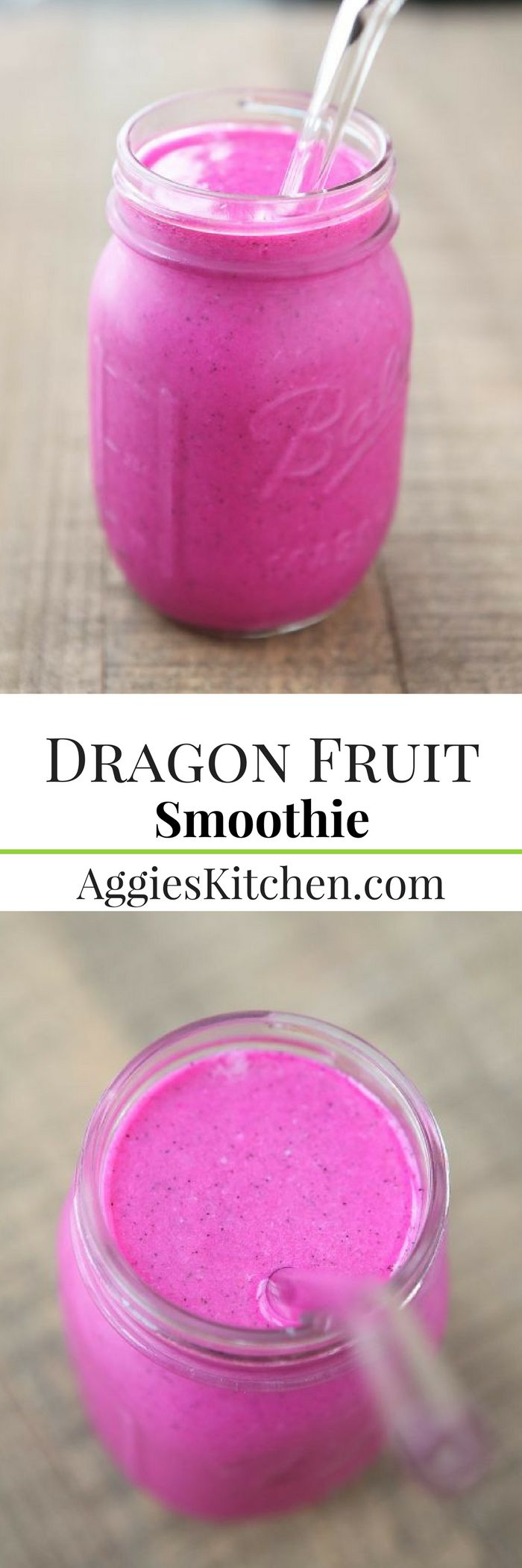 Give your body a boost of nutrition and hydration with this gorgeous Dragon Fruit Smoothie.