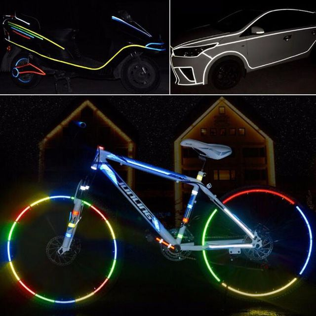 Fluorescent  Decoration  Reflective Strip Safety Tape Vinyl  Bicycle Sticker