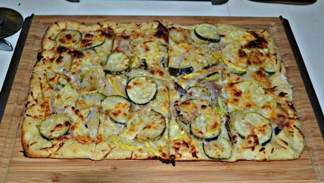: CSA Wednesdays:  Gluten Free Grilled Zucchini and Squash Flatbread