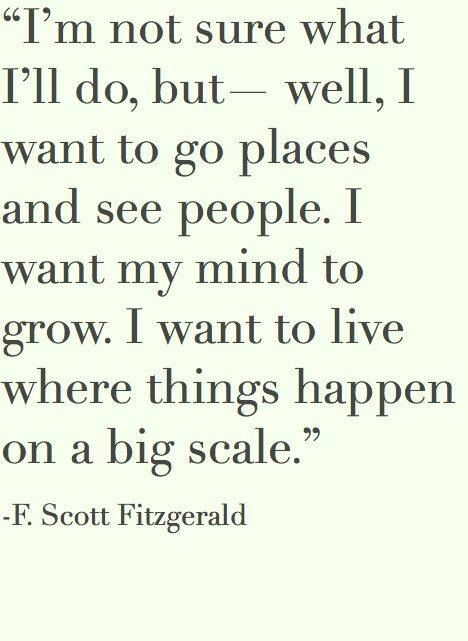 F. Scott Fitzgerald #Quote on Life
