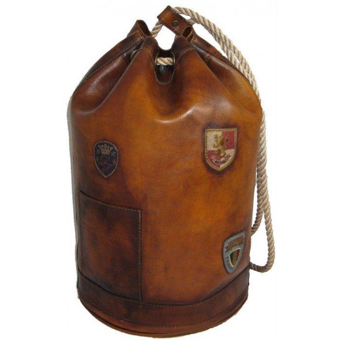 Pratesi,Patagonia,borsa da viaggio in pelle,a spalla,borsone da marinaio. Leather luggage bag, made in Italy.