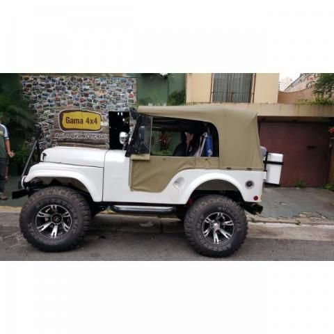 Capota Conversível Pissoletro Bege Iraque para Jeep Willys CJ5 de 1955 a 1983