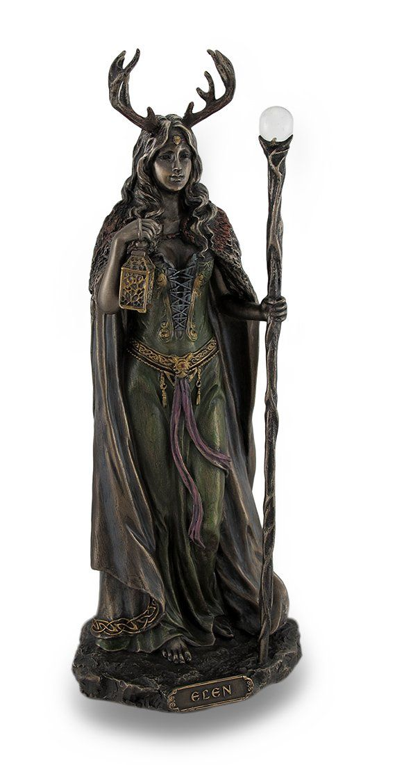 This stunning Elen of the Ways statue represents the Celtic goddess of crossroads and paths.  She will light your way even in darkness.