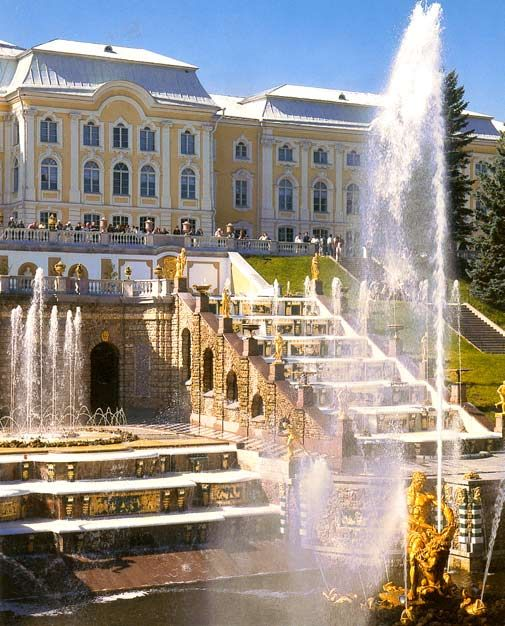 The ancient fountains of Peterhof on the outskirts of St Petersburg..never dreamed I could go