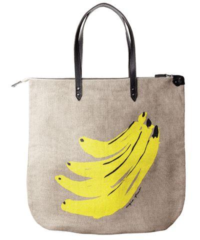 Virginia Johnson hemp tote, banana