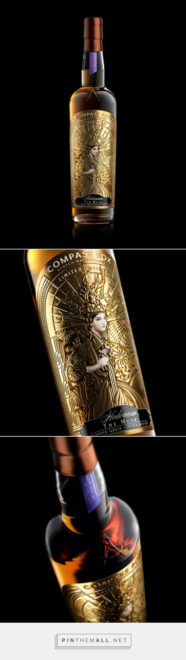 The Muse - A recognition of women in whisky from Compass Box for International Women's Day 2018 - packaging design by Stranger & Stranger - https://www.packagingoftheworld.com/2018/04/the-muse.html