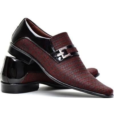 Sapato Social Verniz Masculino Super Conforto Sapatofran - R$ 169,91