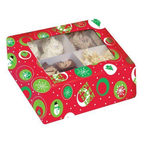 Vianočná krabička na 9 cupcakes