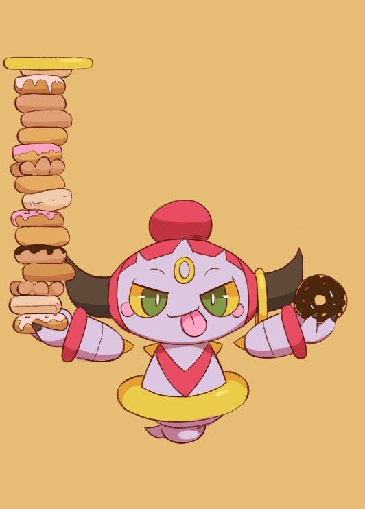 "Hey guys!!! Our new character of the week is Hoopa! Hoopa is a legendary pokemon. It's really cute and loves donuts! Check out the movie ""Pokemon: Hoopa and the Clash of Ages"""
