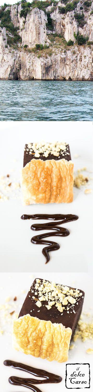Tortino dolce e salato al cioccolato, sfoglia croccante e biscotto salato, ispirato dalla riserva naturale Falesie di Duino  || Dessert sweet & savoury inspired by the Duino cliffs in Northern Italy