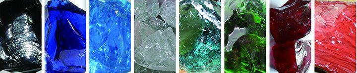 Clair et naturel couleur bleu Cobalt laitier verre Rocks Gabion et aménagement paysager à domicile