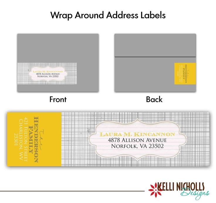 wrap around address label