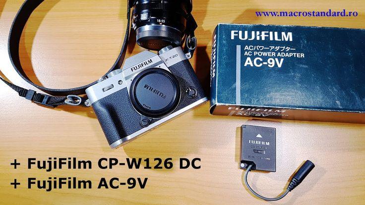 Prezentare adaptor acumulator FujiFilm CP-W126 DC si alimentator FujiFil...