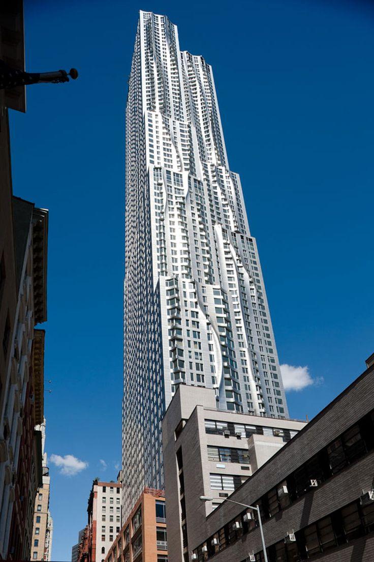 Editorial Manhattan New YorkLower ManhattanFrank GehryModern BuildingsContemporary ArchitectureTowersNew