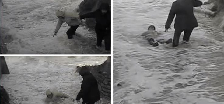 VIDEO SHOWS UNEXPECTED TERRIFYING BEACH WAVES SWEPT AWAY OLD COUPLE
