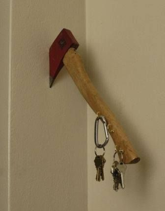 I Love This Clever Home-Made Key Holder For The Fire Station's Chief Office...NOTE: No Link...