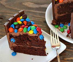Recette gâteau d'anniversaire à l'américaine Kit Kit et M