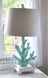 So many different places we could pin this fabulously beachy living lamp