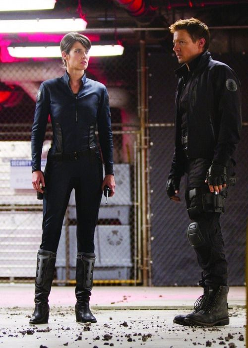 Agent Maria Hill & Agent Clint Barton / Hawkeye - Cobie Smulders & Jeremy Renner - Avengers Assemble 2012