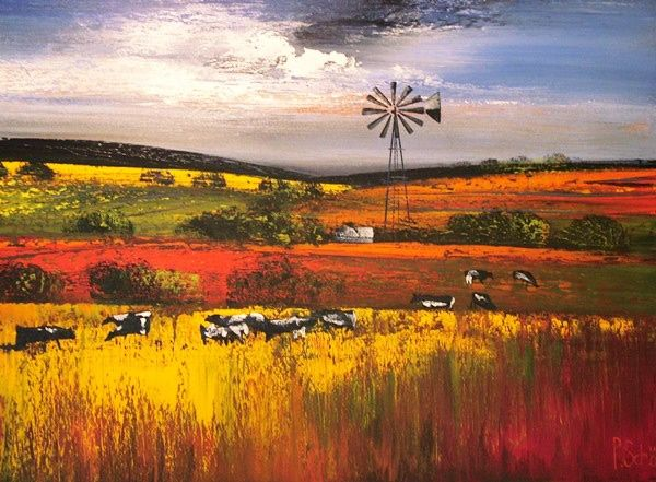 Paul Schöne :: My Paintings :: Landscape paintings with energetic colours depicting the absolute beauty of South Africa and its contrast