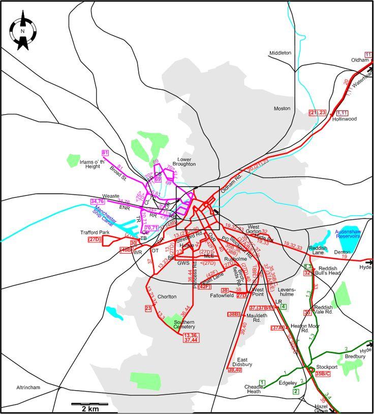 Manchester Metropolitan Region 1944 tram map