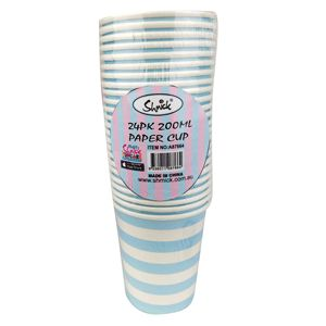 Light Blue Stripe Party Cups