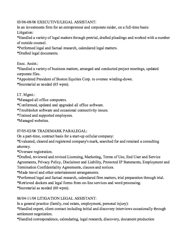 Trademark Resume Sample -    resumesdesign trademark - personal injury assistant sample resume