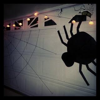 Large Spider/Web Garage Door Decorations