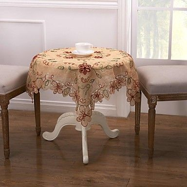 Classic Linen and Cotton Tablecloth,Dia 35'' – USD $ 6.99